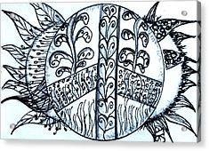 Peace Sun Flower Acrylic Print