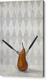 Pear Acrylic Print by Joana Kruse
