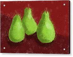 Pear Trio Acrylic Print by Heidi Smith