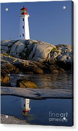 Peggy's Cove Lighthouse Acrylic Print by Norman Pogson