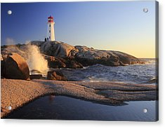 Peggy's Cove Lighthouse Nova Scotia Canada Acrylic Print