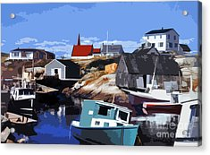 Peggy's Cove Acrylic Print