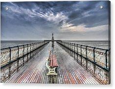 Penarth Pier 4 Acrylic Print by Steve Purnell