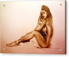 Pencil Nude Acrylic Print