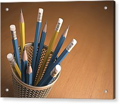 Pencils In A Pot Acrylic Print by Ktsdesign