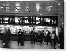 Acrylic Print featuring the photograph Penn Station by Steven Macanka