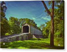 Pennsylvania Covered Bridge Acrylic Print by Phil Abrams