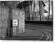Penny Lane Liverpool Uk Acrylic Print by Ken Biggs