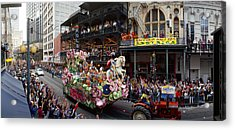 People Celebrating Mardi Gras Festival Acrylic Print by Panoramic Images