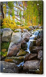 Perfection Lakes Falls Acrylic Print by Inge Johnsson