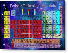 Periodic Table Acrylic Print by Carol & Mike Werner