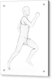 Person Jogging Acrylic Print