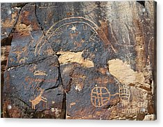547p Petroglyph - Nine Mile Canyon Acrylic Print by NightVisions