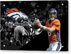 Peyton Manning Broncos Acrylic Print by Joe Hamilton