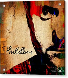 Phil Collins Collection Acrylic Print