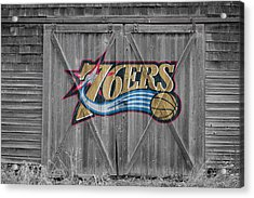 Philadelphia 76ers Acrylic Print by Joe Hamilton