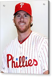 Philadelphia Phillies Photo Day Acrylic Print by Mike Ehrmann