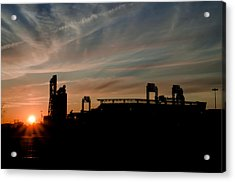 Phillies Stadium At Dawn Acrylic Print by Bill Cannon