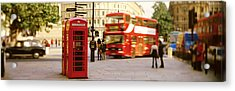 Phone Box, Trafalgar Square Afternoon Acrylic Print by Panoramic Images