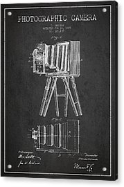 Photographic Camera Patent Drawing From 1885 Acrylic Print