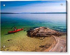 Photographing Fishing Cone Acrylic Print by Chuck De La Rosa