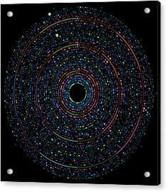 Pi Phi And E Transition Bubble Heaps Acrylic Print by Martin Krzywinski
