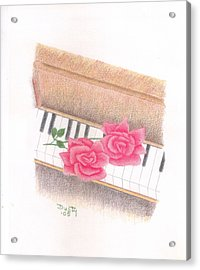 Piano Pinks Acrylic Print by Dusty Reed