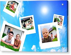 Pictures Of Happy Family Acrylic Print by Michal Bednarek