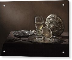 Acrylic Print featuring the photograph Pieter Claesz - Onbijt With Roemer And Tazza by Levin Rodriguez