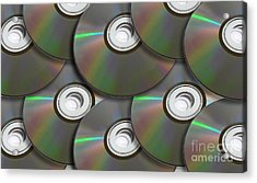 Pile Of Discs Acrylic Print by Jorgo Photography - Wall Art Gallery