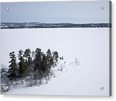 Pinheys Point In Winter, Dunrobin Acrylic Print