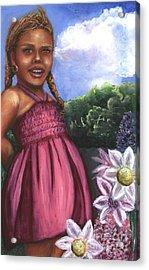 Pink Dress Acrylic Print by Alga Washington