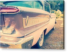 Pink Ford Edsel  Acrylic Print by Edward Fielding