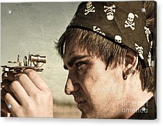 Pirate And Compass Acrylic Print by Jorgo Photography - Wall Art Gallery