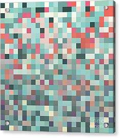 Pixel Art Style Pixel Background Acrylic Print