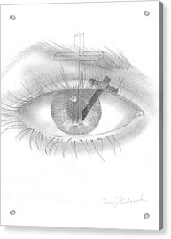 Plank In Eye Acrylic Print