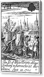 Playing Card, 1707 Acrylic Print by Granger