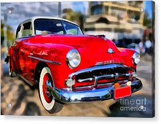 1951 Plymouth Concord Acrylic Print by George Atsametakis