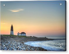 Point Judith Lighthouse Acrylic Print by Juli Scalzi