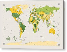 Political Map Of The World Acrylic Print