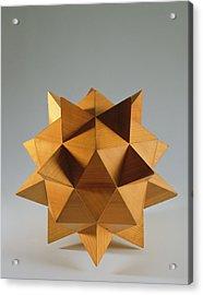 Polyhedron Wood Acrylic Print by Italian School