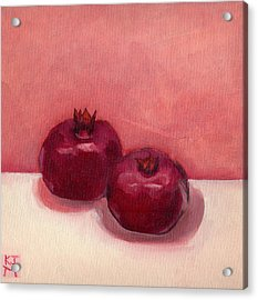Acrylic Print featuring the painting Pomegranates by Katherine Miller