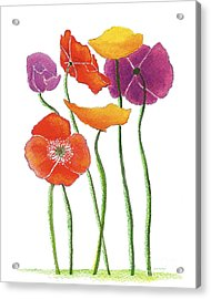 Acrylic Print featuring the painting Poppies A Plenty by Nan Wright
