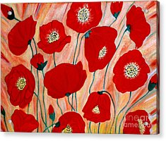 Poppies. Inspirations Collection. Acrylic Print