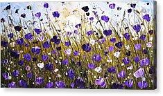Poppis In Purple Acrylic Print by Jolina Anthony