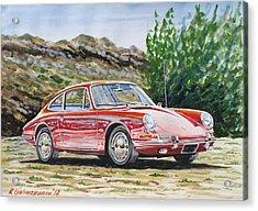 Porsche 911 Acrylic Print by Rimzil Galimzyanov