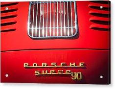 Porsche Super 90 Tail Emblem Acrylic Print by Jill Reger