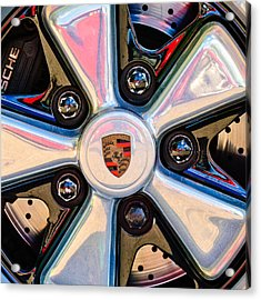 Porsche Wheel Rim Emblem Acrylic Print