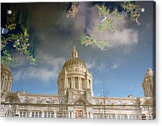 Port Of Liverpool Building Reflected Acrylic Print by Ken Biggs