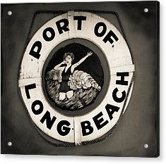 Port Of Long Beach Life Saver Vin By Denise Dube Acrylic Print